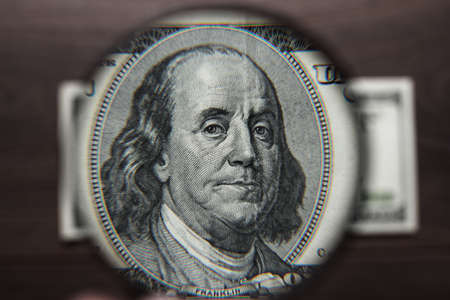spurious: authentication of one hundred dollars banknote on wooden