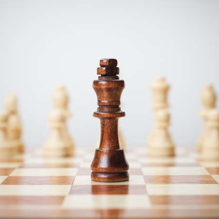 chess player: chess concept on grey background