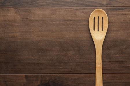 houten skimmer op de tafel met een kopie ruimte Stockfoto