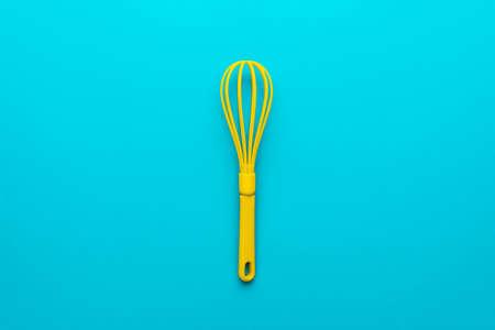 Top view photo of vivid plastic kitchen utensil. Zdjęcie Seryjne