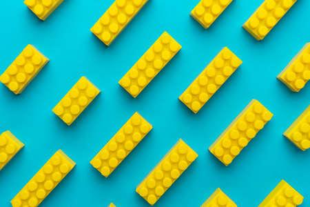 Top view of plastic blocks Zdjęcie Seryjne