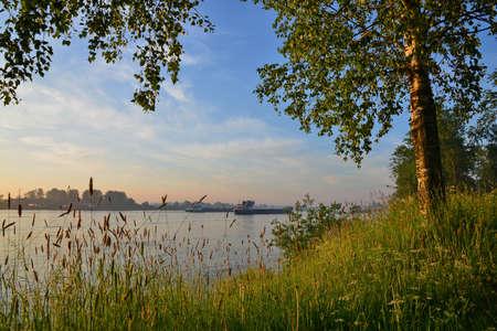 neva: The Neva River, Izhora Stock Photo