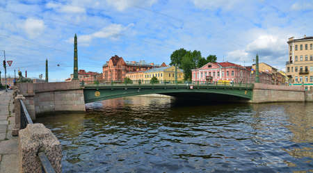 saint petersburg: Saint Petersburg, Egyptian Bridge Stock Photo
