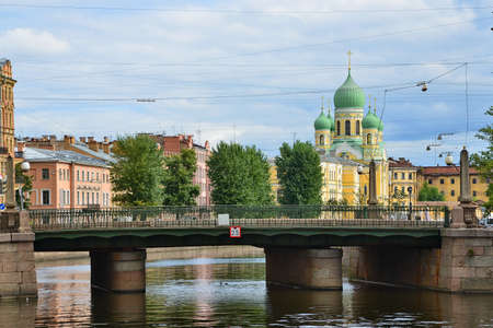 saint petersburg: Saint Petersburg, Alarchin bridge Stock Photo