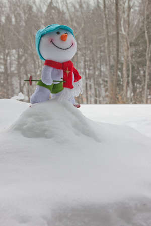 Snow man looking forward to fun Stok Fotoğraf