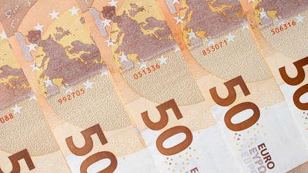 50 euros - close-up money euro bills