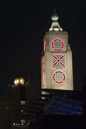 The Oxo Tower, London at night.