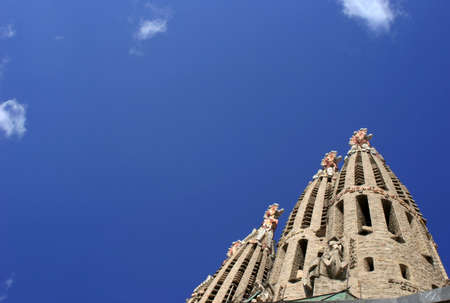 The Salgrada Famiglia, Barcelona, Spain. Stock Photo - 690739