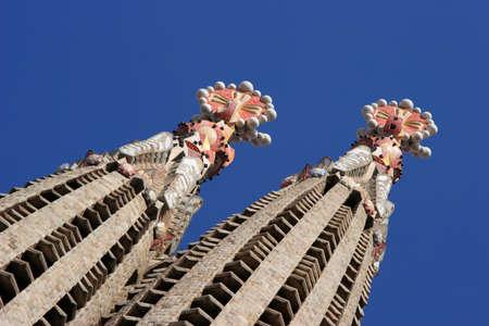 The Salgrada Famiglia, Barcelona, Spain. Editorial