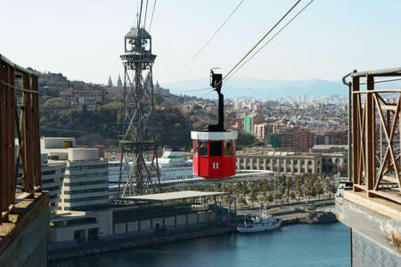 A Cable car in Barcelona