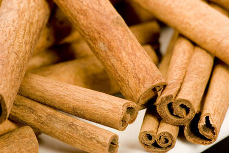 Cinnamon sticks, studio shot, close up