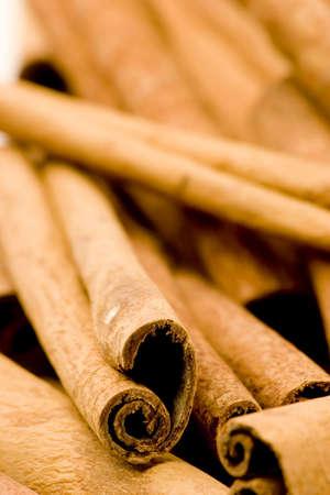 Cinnamon sticks, studio shot, close up