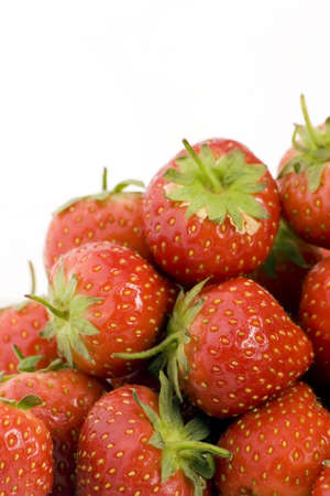 Ripe Strawberry's shot against a plain background. Stock Photo - 701858