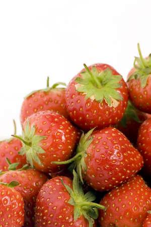 Ripe Strawberry's shot against a plain background. Stock Photo - 701858
