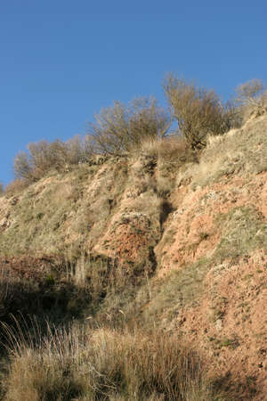 cliff edge: A cliff edge. Stock Photo