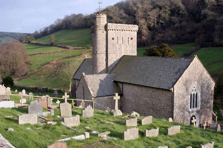 A Church graveyard in Devon, England.