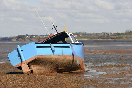 A fishing Boat in the Bay of Exmouth, Devon. photo