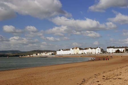 The Bay and beach of Exmouth, Devon.
