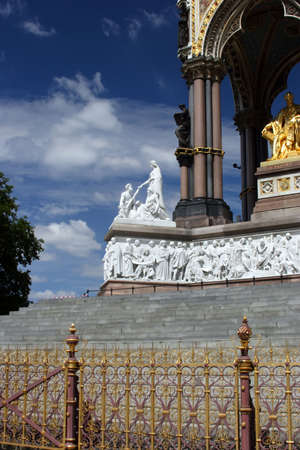 A Scenic View of The Prince Albert memorial in Hyde park, London. photo