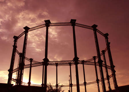 A steel frame of a Gas tower Stock Photo - 701998