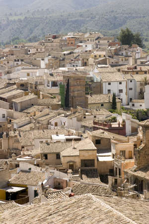 The town of Caravaca de la cruz, spain. Stock Photo