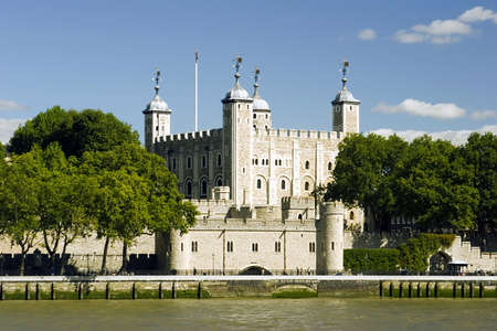 The Tower Of London on the river Thames. Stock Photo