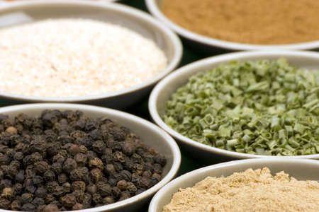 Various Spices in Bowls Stock Photo - 735258