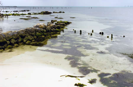 mujeres: A jetty on the island of Isla Mujeres, mexico. Stock Photo