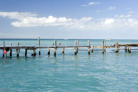 A jetty on the island of Isla Mujeres, mexico. Stock Photo - 808514