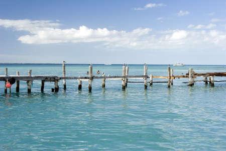 A jetty on the island of Isla Mujeres, mexico. Stock Photo - 808514