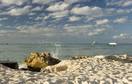 A coastal scene from Isla Mujeres, Mexico
