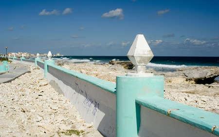A coastal scene from Isla Mujeres, Mexico Stock Photo - 808536