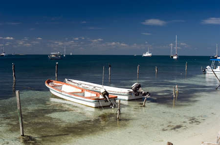 A coastal scene from Isla Mujeres, Mexico Stock Photo - 808540