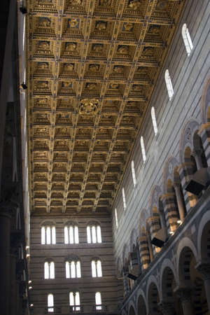 Interior of Duomo in Cathedral Square at Pisa in Italy