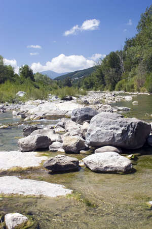A mountain stream in Borgo val di Taro, Italy. photo