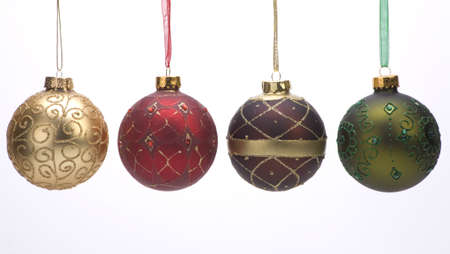 Christmas decoration balls against a plain background. Stock Photo