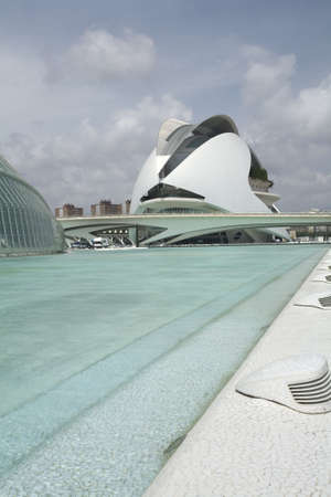 The Palau de Les Arts museum in Valencia, Spain. Stock Photo - 3340492