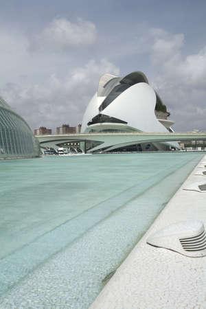 les: The Palau de Les Arts museum in Valencia, Spain.