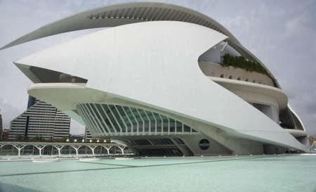 palau: The Palau de Les Arts museum in Valencia, Spain.