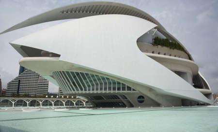 The Palau de Les Arts museum in Valencia, Spain.