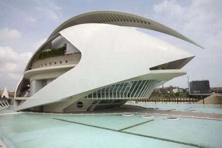 The Palau de Les Arts museum in Valencia, Spain. Stock Photo - 3341102