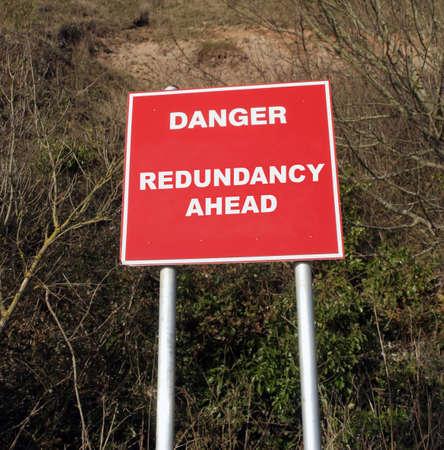 Cliff Danger sign stating financial warning photo