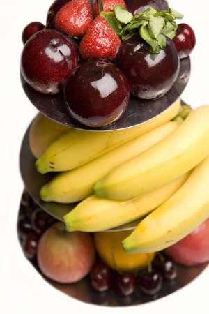 Fruit platter of assorted fruits on a stand. Stock Photo - 6080982