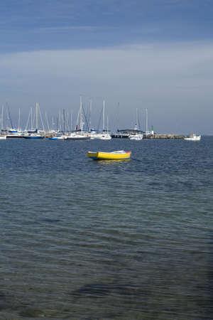 A boat marina in Los Alcazares, Murcia. Spain.