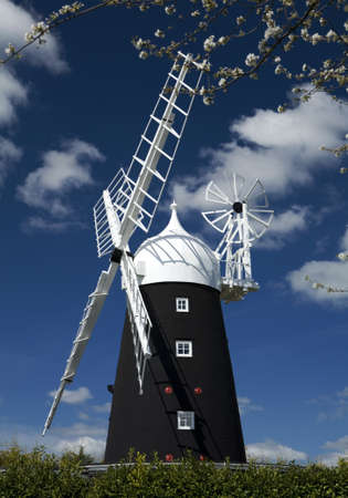 Stretham Windmill in the village of Sutton, Cambridgeshire Stock Photo - 9103159