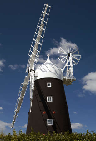 Stretham Windmill in the village of Sutton, Cambridgeshire Stock Photo