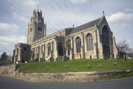 cambridgeshire: Sutton Church in the county of Cambridgeshire Stock Photo