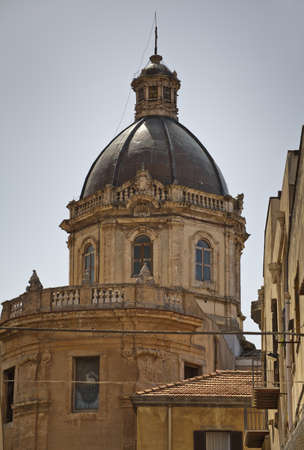 alcamo: The Cathedral in the Town of Alcamo in Sicily. Editorial