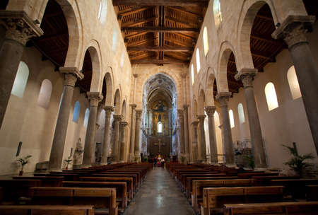 The Interior of The Cathedral-Basilica of Cefalu Stock Photo - 18811870