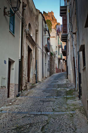 A narrow Cefalu street in Sicily  Stock Photo - 18811883